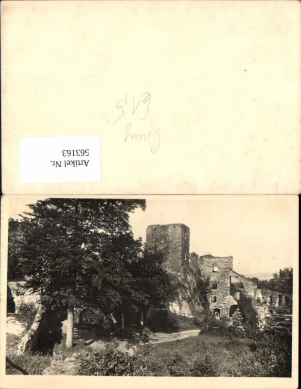 563163,Foto Ak Burg Ruine