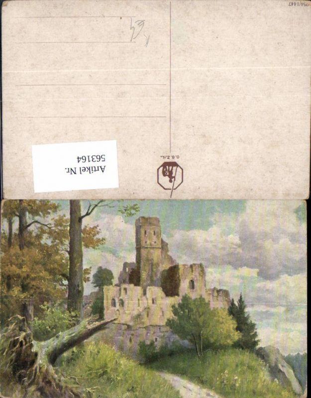 563164,Künstler Ak Burg Ruine