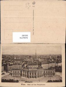 563185,Wien Blick a. d. Burgtheater Theater Oper pub Kilophot 1914