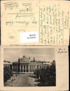 563186,Foto Ak Wien Burgtheater Straßenbahn Ringlinie Theater Oper