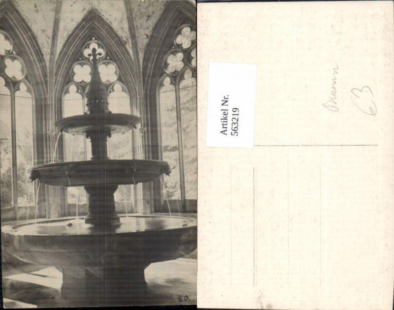 563219,Foto Ak Brunnen in Stift Kloster Religion