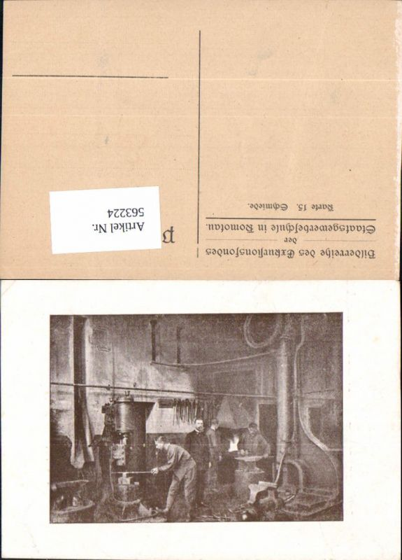 563224,Komotau Chomutov Bilderreihe Exkursionsfondes Schmiede Arbeiter