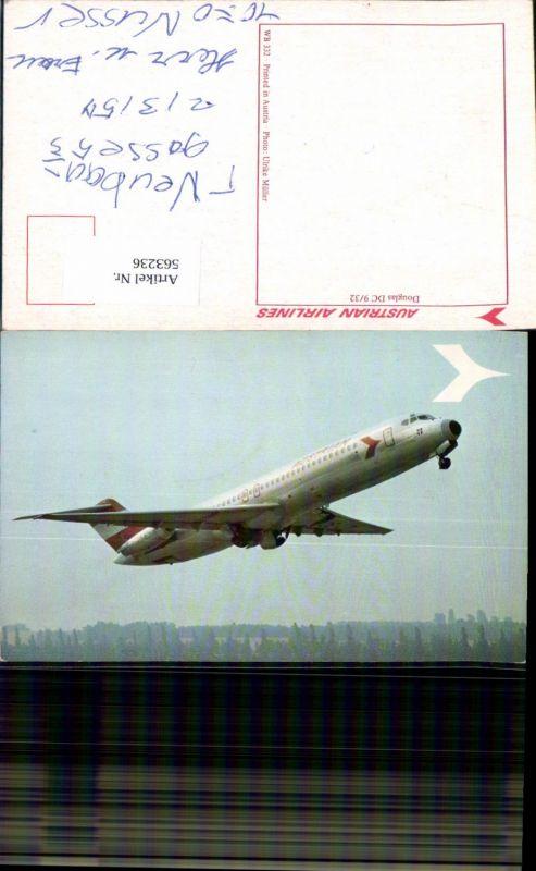563236,Luftfahrt Aviatik Flugzeug Flieger Douglas DC 9/32 Austrian Airlines