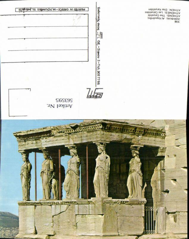 563595,Athen Athenes Les Caryatides Karyatiden Greece Tempel