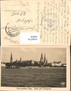 563610,Riga Skats pari Daugavai Feldpost 3. Sturm-Geschütz-Ersatz-Abteilung 200