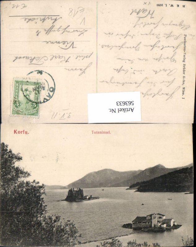 563633,Corfu Toteninsel Korfu Greece pub B.K.W.I. 2686
