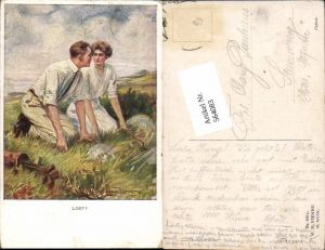 564083,tolle Künstler AK Jugendstil Clarence F. Underwood Golf Munk Vienne 860 c
