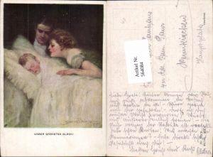 564084,tolle Künstler AK Jugendstil Clarence F. Underwood Kind Eltern Munk Vienne 742 F
