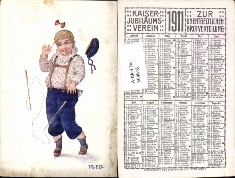 564616,Künstler AK T. Welzl Springschnur springen Spiel Kind Kaiser Jubiläumsverein