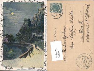 564622,Künstler AK Lithographie Philipp & Kramer XXV/8 Rattenberg Mond Ruine
