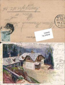 564625,Lithographie Philipp & Kramer XL/6 H. Witt Semmering Einsiedelei