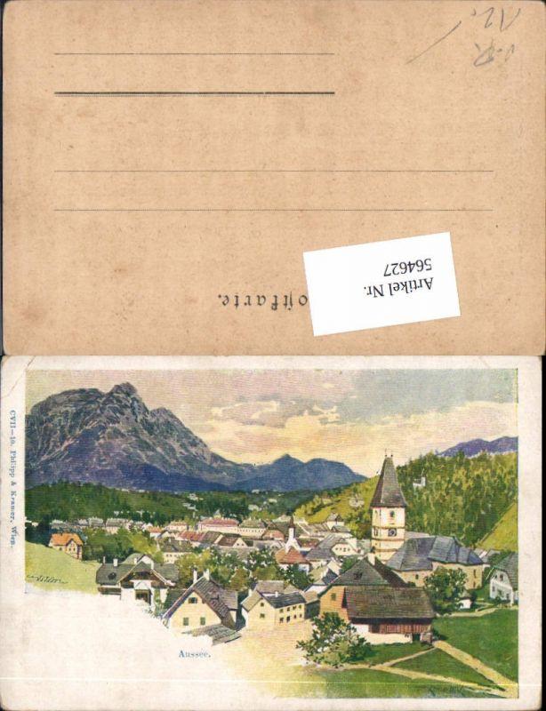 564627,Lithographie Philipp & Kramer CVII/10 F. Kopallik Bad Aussee
