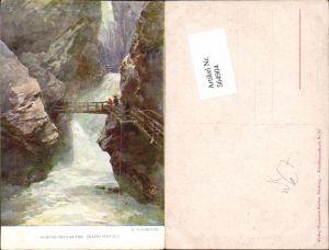 564904,Künstler AK E. T. Compton Kaprun Kaprunerthal Sigmund Thun Klamm