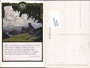 566339,Künstler AK Otto Barth Dr. Karl Renner Spruch Naturfreunde Karte 6
