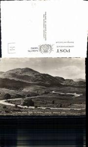 566992,Schottland Aberfoyle Ben Venue from the winding Trossachs Aberfoyle Road