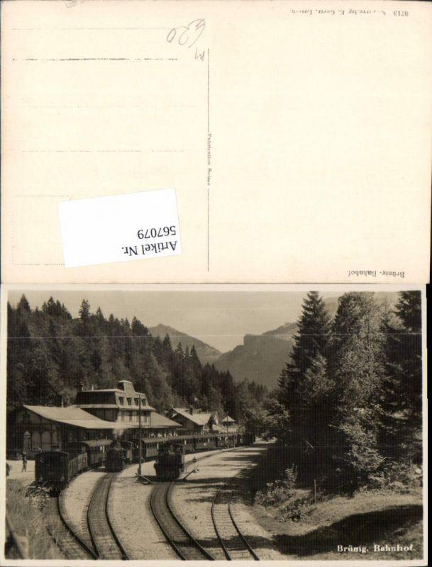 567079,Brünig Bahnhof Eisenbahn Lokomotive Hasliberg Brienzwiler Meiringen Lungern Giswil Obwalden