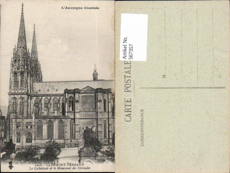 567357,Clermont-Ferrand La Cathedrale et le Monument des Croisades