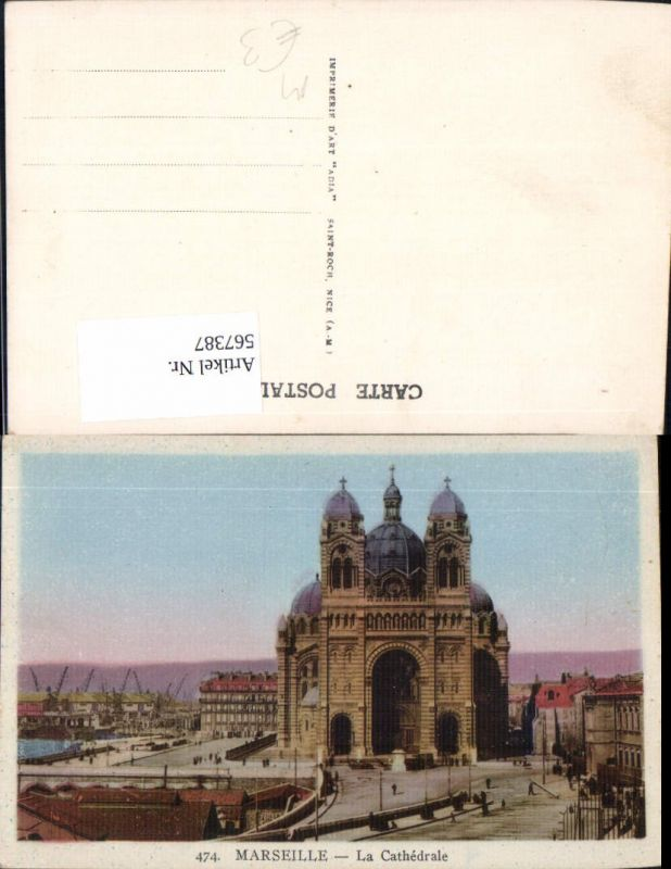 567387,Marseille La Cathedrale Kathedrale Kirche am Hafen