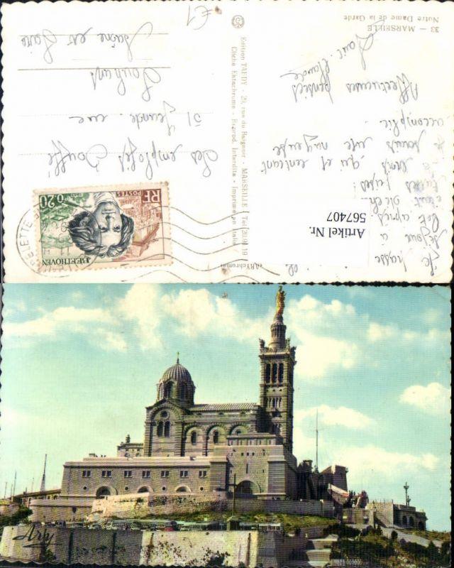 567407,Marseille Notre Dame de la Garde Kirche m. Statue