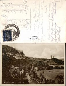 568883,Bad Kösen Rudelsburg u. Saaleck Burg Burgen
