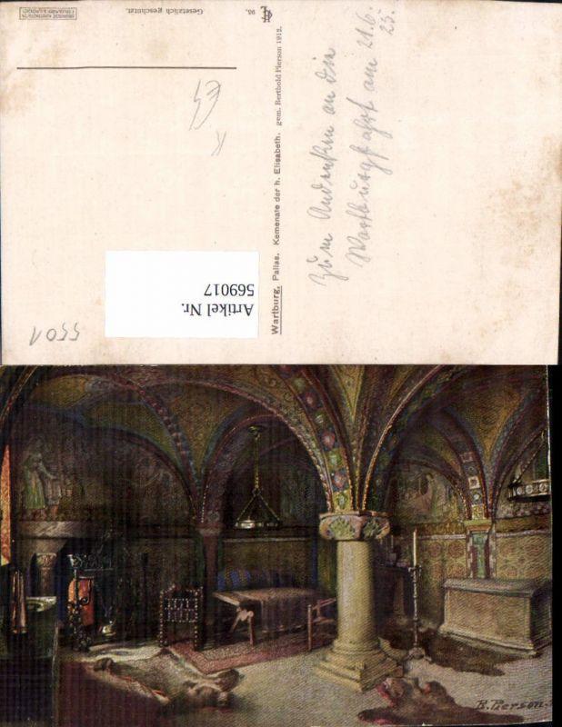 569017,Künstler Ak Berthold Pierson Eisenach Wartburg Kemenate d. H. Elisabeth