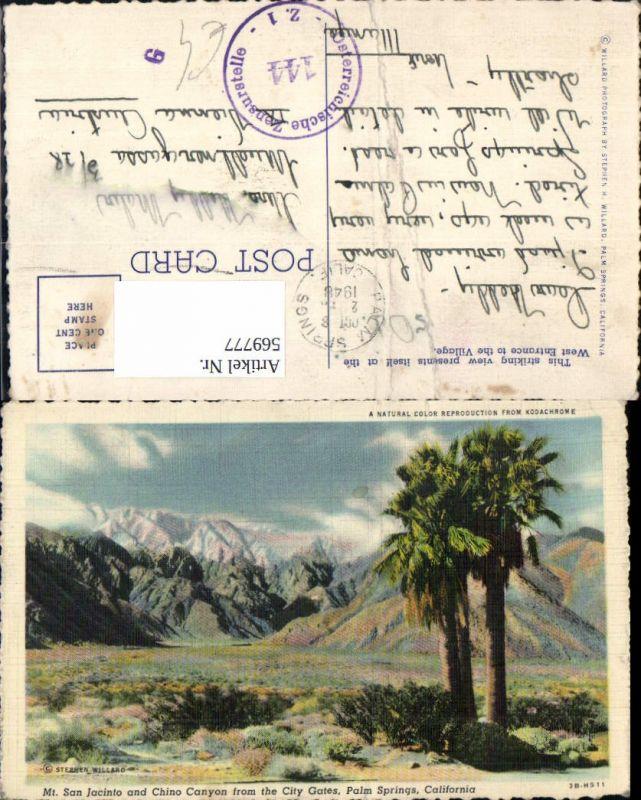 569777,USA Mt. San Jacinto and Chino Canyon from City Gates Palm Springs California
