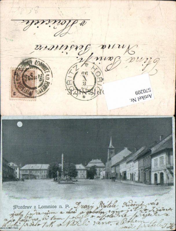 570209,Lithographie Pozdrav z Lomnice nad Popelkou Semily Liberec