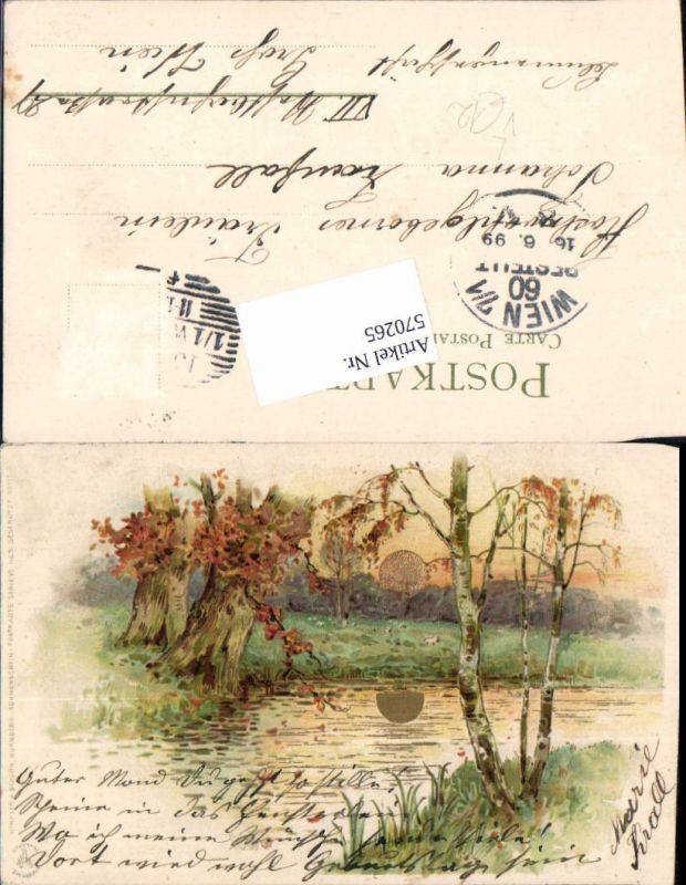 570265,Lithographie Sonnenschein Postkarte 99115 pub Winkler & Schorn