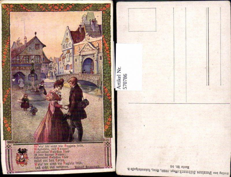 570786,Künstler AK T. Welzl Rudolf Baumbach Spruch pub Verein Südmark 56