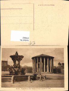 570902,Italy Roma Rom Piazza Bocca della Verita col Tempio supposto di Vesta Brunnen Tempel