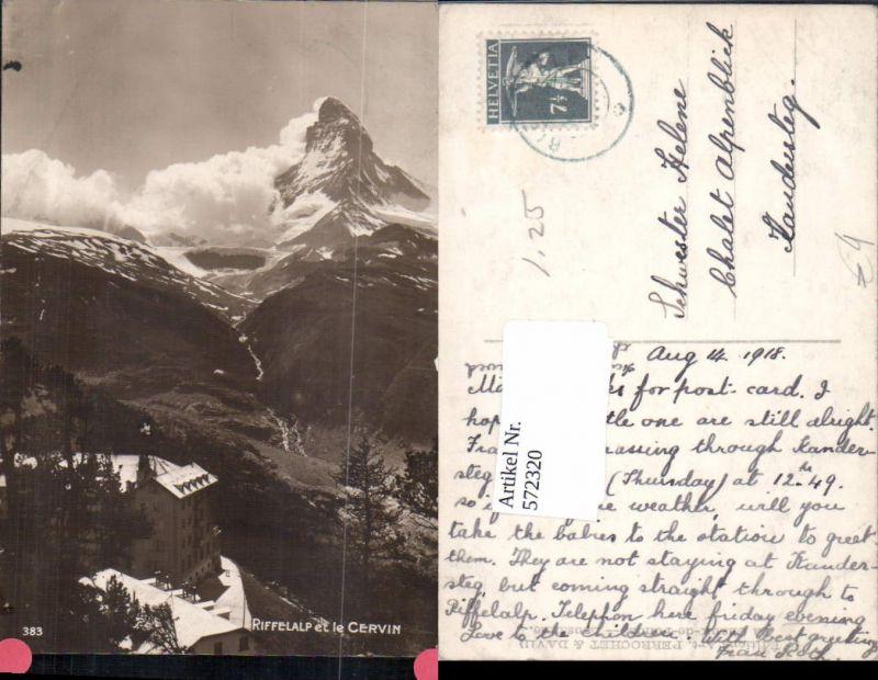 572320,Riffelalp m. Matterhorn Zermatt Cervin