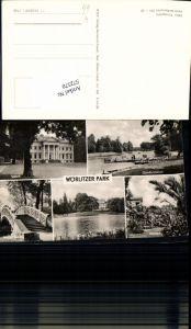 572570,Mehrbild Ak Oranienbaum-Wörlitz Wörlitzer Park Schloss Gondelstation