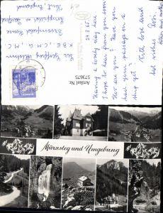 573675,Mehrbild Ak Mürzsteg u.Umgebung Wasserfall Edelweiß