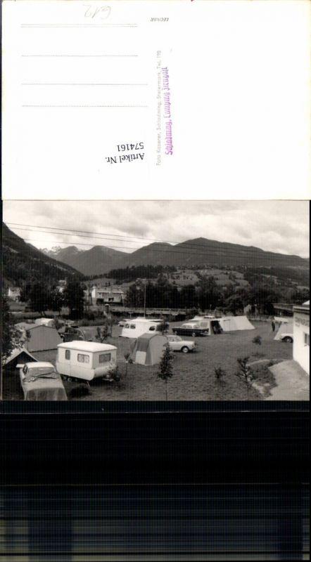 574161tolle Foto Ak Camping Zirngast Schladming Wohnwagen Auto