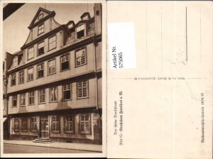 575065,Frankfurt a. Main Goethehaus pub Reichswinterhilfe-Lotterie 1934/35