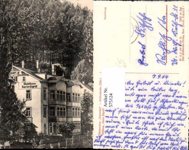 575124,Foto Ak Sanatorium Tannenhof Friedrichroda Ansicht Beihaus Waldhaus Karin-Sigrid