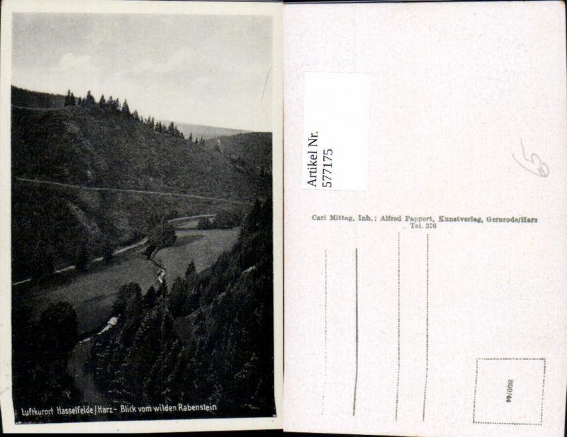 577175,Hasselfelde Harz Oberharz am Brocken Blick v. Wilden Rabenstein