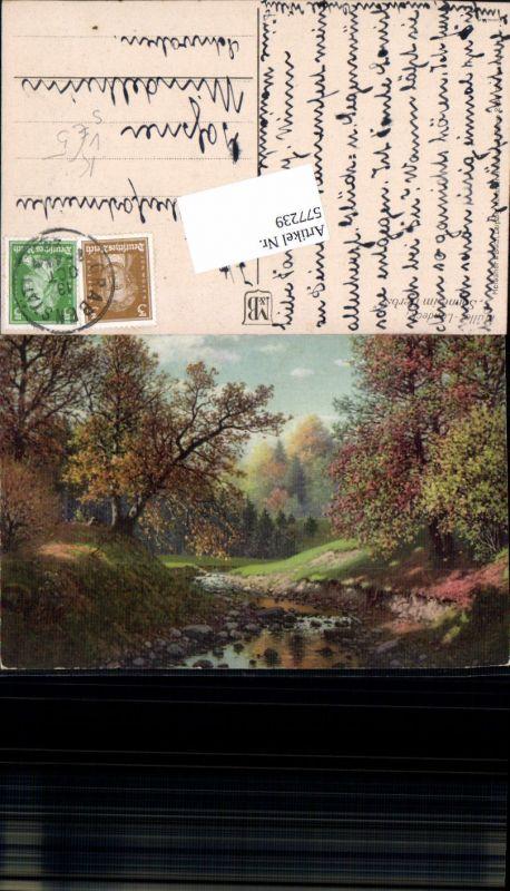 577239,Künstler AK Meissner & Buch 2758 Bach wald