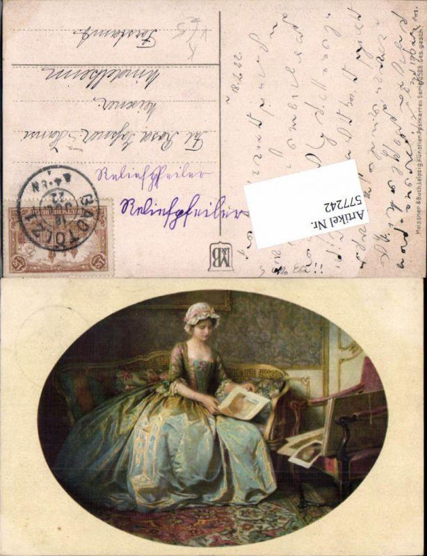 577242,Künstler AK Meissner & Buch 2528 Lesen Frau