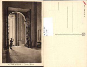 577297,Vatikan Vaticano Rom Roma Schweizer Garde Portone Bronzo