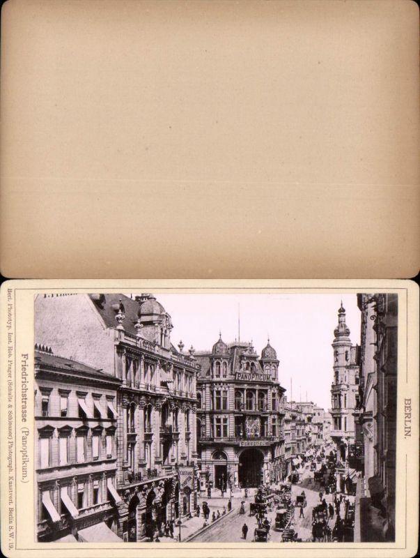 577358,Kabinett CDV Foto Berlin 1890 Friedichstrasse  pub Rob. Prager