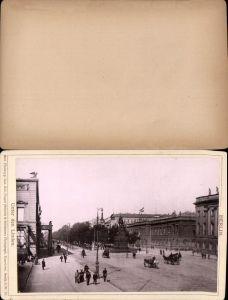 577359,Kabinett CDV Foto Berlin 1890 Unter den Linden pub Rob. Prager