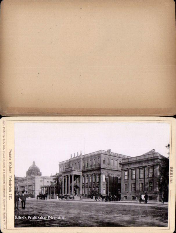 577361,Kabinett CDV Foto Berlin 1890 Palais kaiser Friedrich  pub Rob. Prager