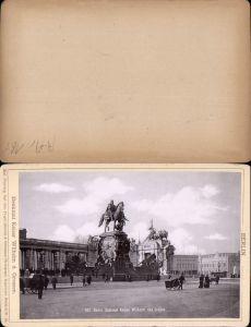 577362,Kabinett CDV Foto Berlin 1890 Denkmal Kaiser Wilhelm pub Rob. Prager