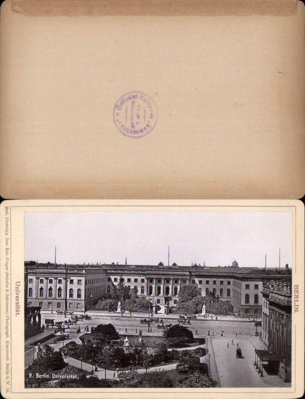 577363,Kabinett CDV Foto Berlin 1890 Universität pub Rob. Prager