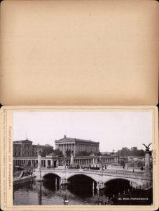 577366,Kabinett CDV Foto Berlin 1890 Friedrichsbrücke pub Rob. Prager