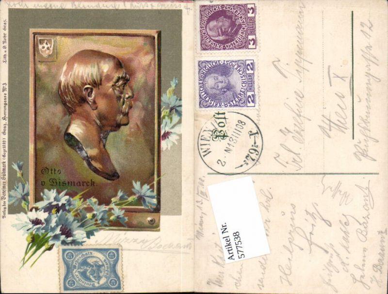577538,Lithographie Otto von Bismarck pub Verein Südmark
