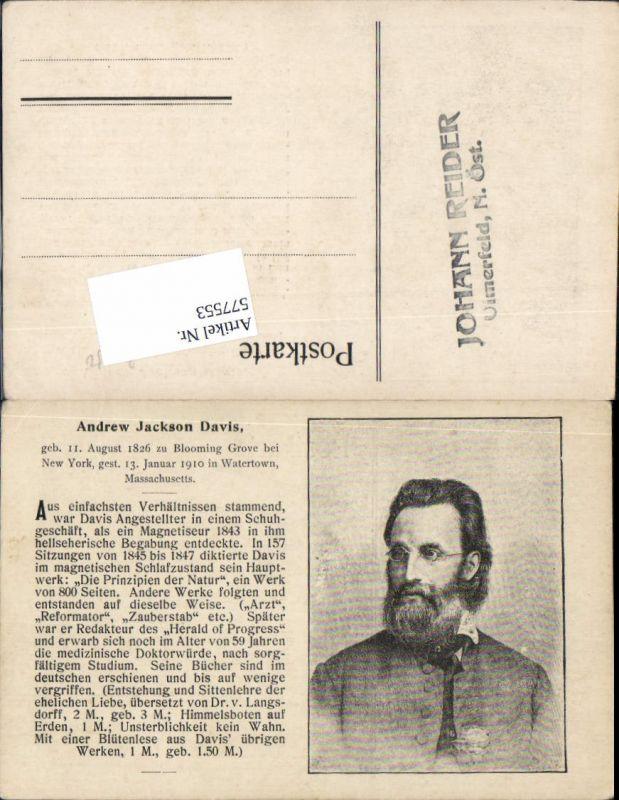 577553,Andrew Jackson Davis Blooming Grove New York USA Watertown Massachusetts Stp. Ulmerfeld