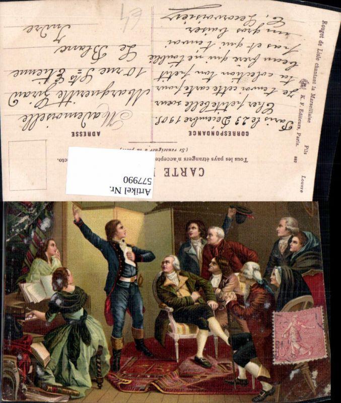 577990,Frühe Neuzeit Rouget de lisle chantant la Marseillaise Französische Revolution France