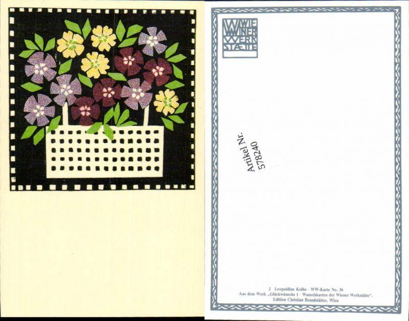 578240,REPRO Wiener Werkstätte Postkarte 36 Leopoldine Kolbe